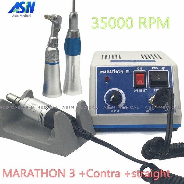 Dobrej jakości laboratorium dentystyczne mikromotor polski rękojeść z kątnica i prosta rękojeść SEAYANG MARATHON 3 + silnik elektryczny