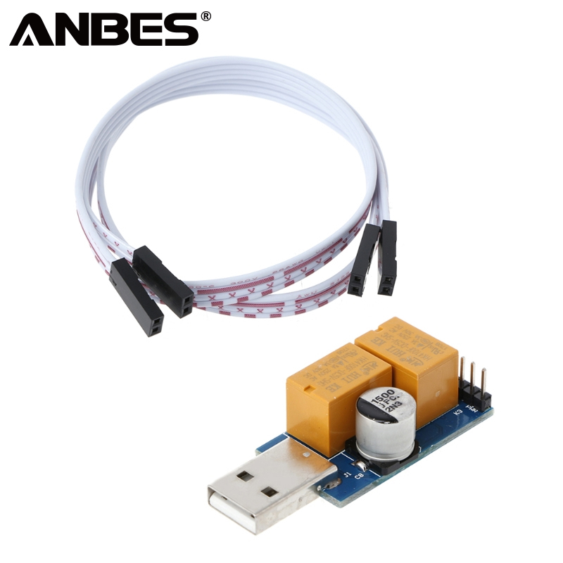 ANBES USB Watchdog Card Double Relay Unattended Automatic Restart Blue Screen Crash Timer Reboot For 24H PC Gaming Server Miner