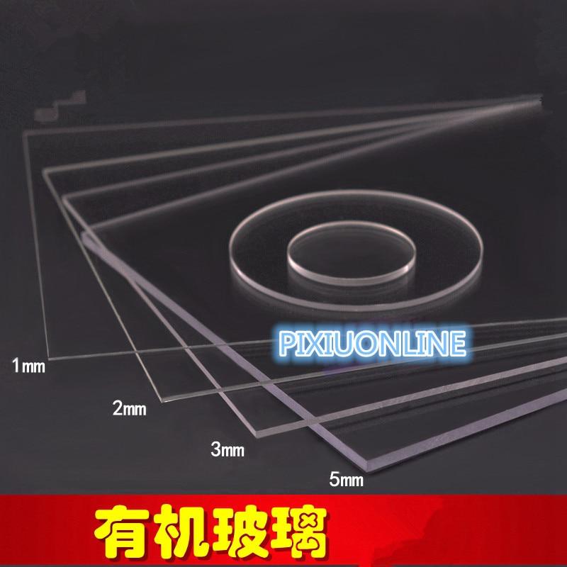 1PCS YT772  Acrylic Board  Transparent Organic Glass DIY Plastic Building Model Material   Thickness 1/2/3/5 Mm  Area 10*20CM