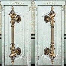 270 мм высокое качество старинные бронзовые большие ворота ручки KTV домашнего офиса отель деревянная дверь тянет античная латунь деревянные двери, фурнитура 11″