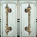 """280mm de bronze do vintage de alta qualidade grande porta alças KTV home office porta de madeira do hotel puxa antique brass ferragens para portas de madeira 11"""""""