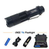 Cree Rechargeable Flashlight Led Torch XM L T6 Waterproof 5 Mode Lanterna Flash Light Lamp Battery