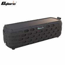 CYBORIS Solar Bluetooth Speaker Wireless HiFi Portable Bluetooth 4.0 Speaker for Outdoors Climbing Cycling with Built-in Mic