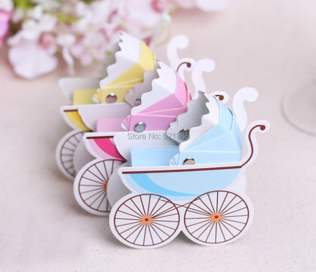 Wholesale 2000pcs/lot Babyu0027s Cradle Car Wedding Party Favors Boxes Baby  Shower Favors Baby Day