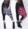 Fashion Harem Pants!New Spring Plus Size Baggy Harem Pants Hip-hop Union Jack stitching Printing Trouser with tracking number