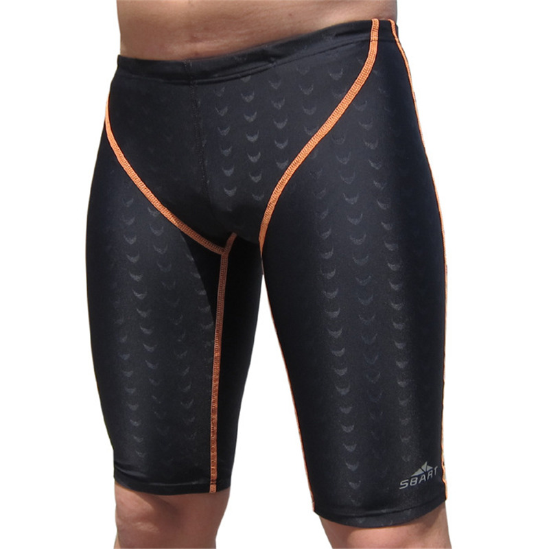 Men's Sharkskin Design Competition Professional Training Swimwear Shorts Snorkeling Surfing Diving Swimming Trunks Jammer