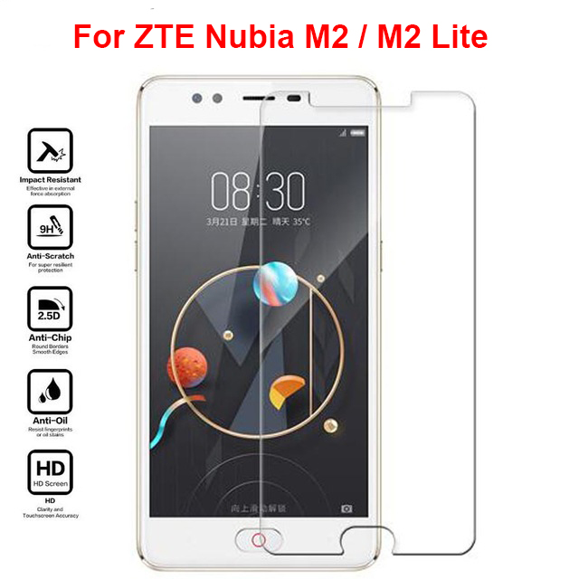 "For ZTE Nubia M2 / M2 Lite Tempered Glass 9H 2.5D Premium Screen Protector Film For ZTE Nubia M2 / M2 Lite m2lite NX573J 5.5 ""(China)"