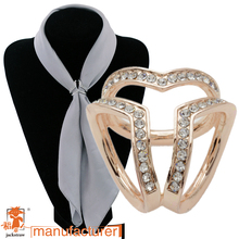2018 new high quality fashion crystal innovative scarves buckle high-grade three-ring plating scarves buckle