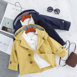 Image 4 - Children Trench Clothing Sets Outerwear & Coats Toddler Boy Girl Autumn Fashion 3PCS Coat + T Shirt + Pants 1 2 3 4 Years