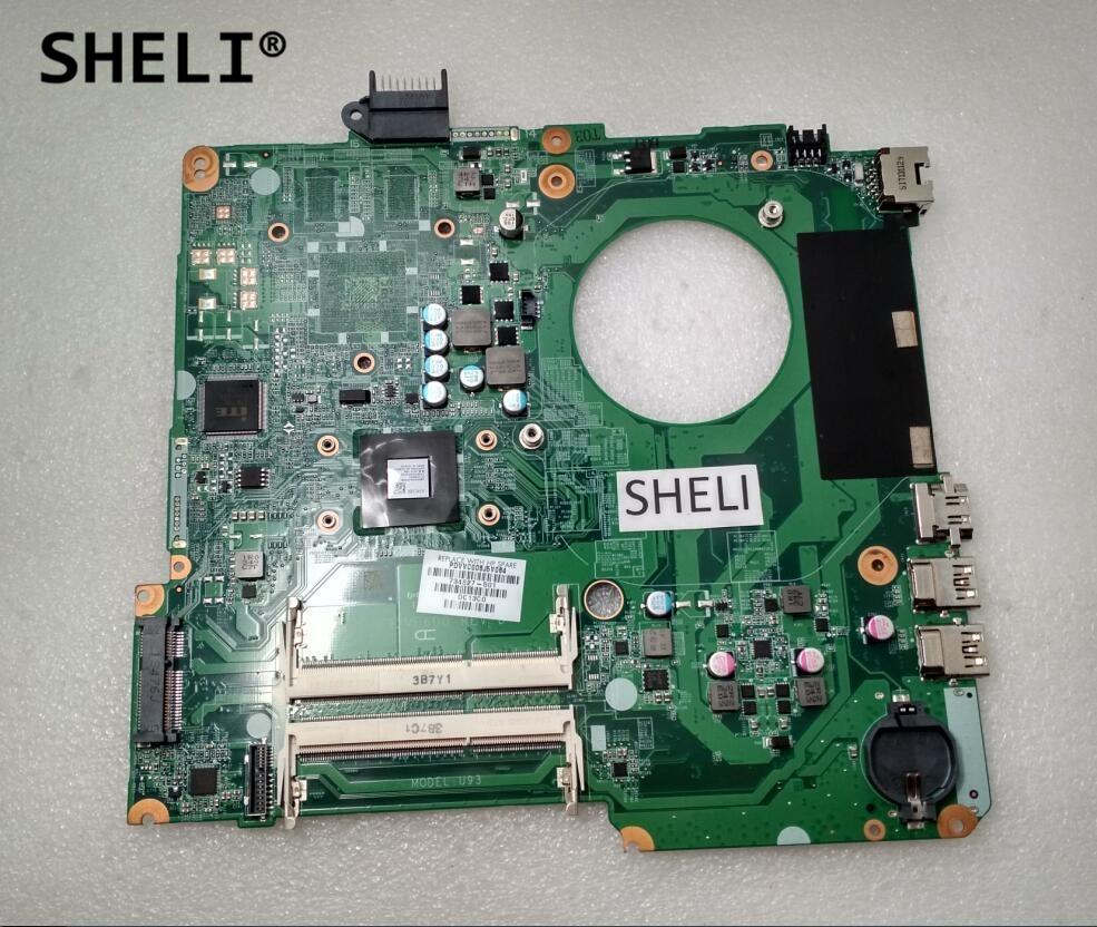 SHELI For HP 15 15-N Motherboard with A6-5200M cpu DA0U93MB6D0 734827-501 734827-001 sheli for hp 15 15 f motherboard with e1 2100 cpu 776783 001 776783 501
