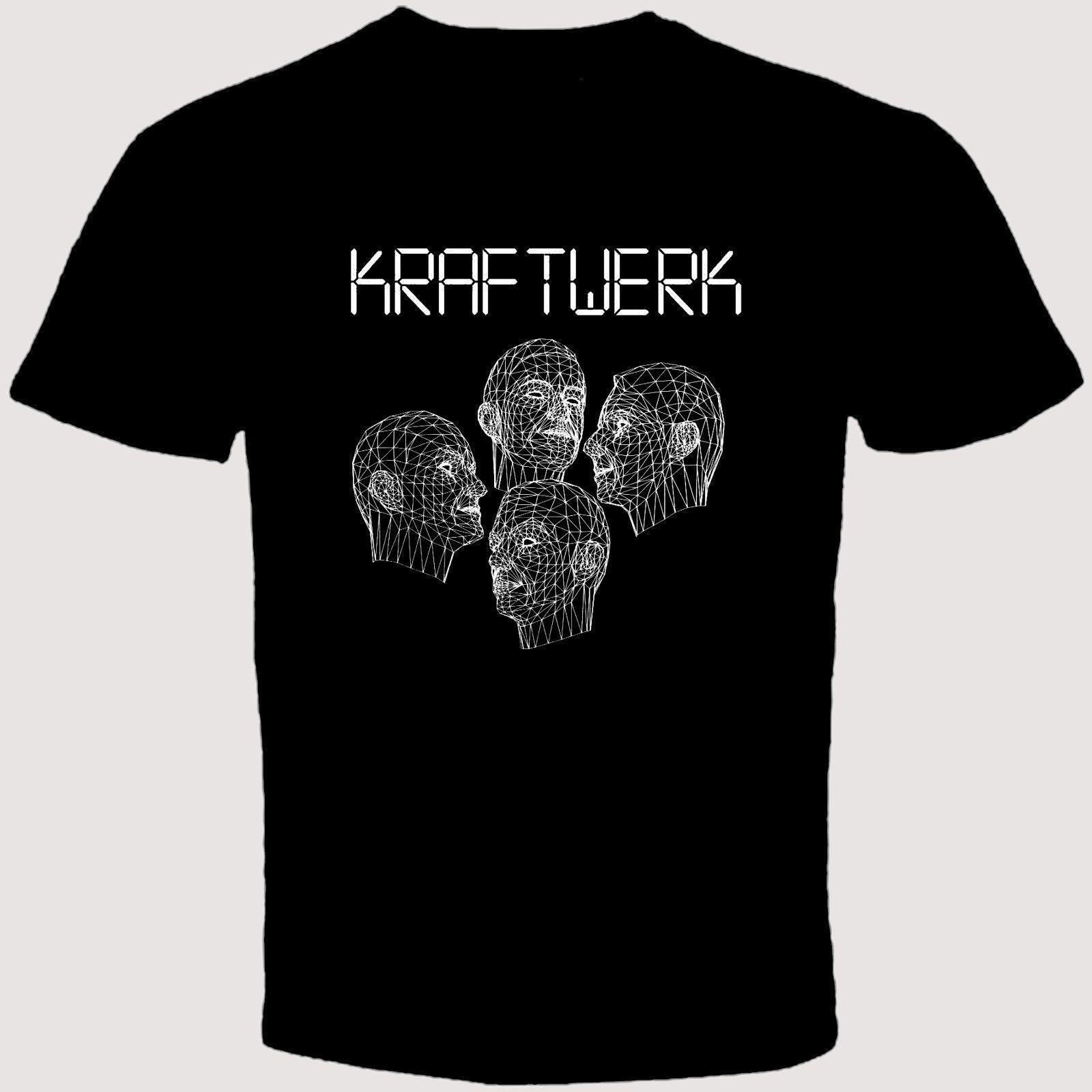 New KRAFTWERK Human Robots Electronic Band T Shirt New 2018 Hot Summer Casual T-Shirt Printing New Arrival MenS Short