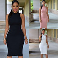 2016 Aliexpress Top Selling European and America Sexy Sleeveless Band Club Elastic Waist Dress