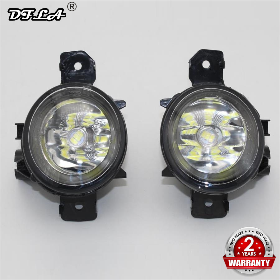 2pcs Car LED Light For BMW X1 E84 2009 2010 2011 2012 2013 2014 2015 Car styling Front LED Fog Light Fog Lamp
