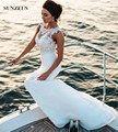 Free Shipping Beach Wedding Dresses With Appliques Mermaid Tank Floor Length Chiffon Bridal Gowns Seaside brautkleid meerjungfra