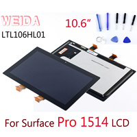 WEIDA LCD Replacement 10.6 For Microsoft Surface Pro 1514 LCD Display Touch Screen Digitizer Assembly Pro1 Tablet LCD