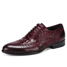 QYFCIOUFU Genuine Leather Formal Derby Shoes Men Pointed Toe Lace Up Elegant Dress Shoes Comfortable Oxfords Footwear US 11.5