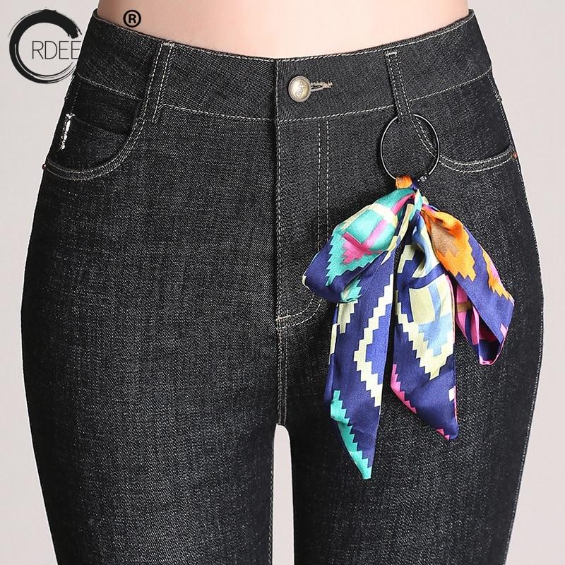 Ordeeson Vaqueros Borla Para Flaco Corea gris 2018 Primavera Más Las Negro Flare Alta Tamaño Oscuro Cintura Pantalones Azul Moda Mujeres Ripped rAIxBwprvq