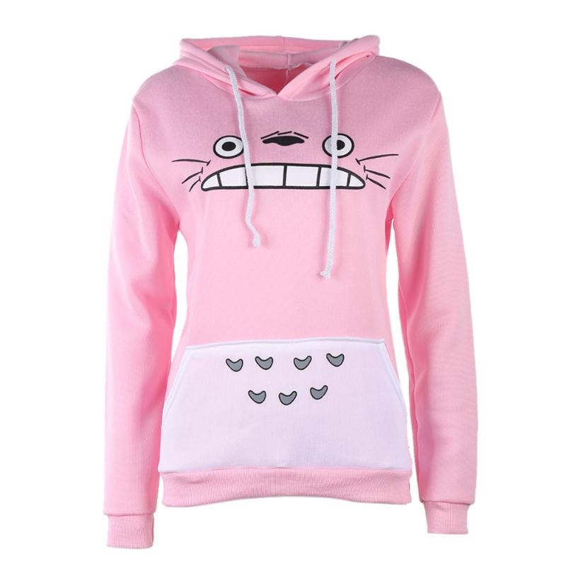 2017 New Fashionable Style Autumn Winter Men/Women Hoodies Unisex Warm Thick Cartoon Cat Printing Pullover Long Sleeve Hoodies