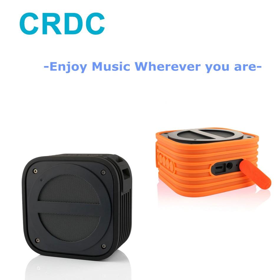 CRDC Bluetooth Portable Mini Speaker Handsfree Speakerphone Speaker with Built-in Mic Waterproof Shockproof for Outdoor Shower t6 bluetooth 3 0 speaker with handsfree function songs track mic