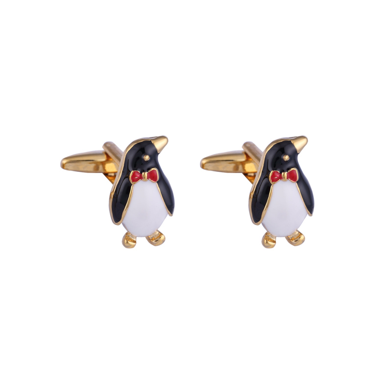 VAGULA Brass Cufflinks Gifts Men French Shirt Cuff link Penguin Style Button 279