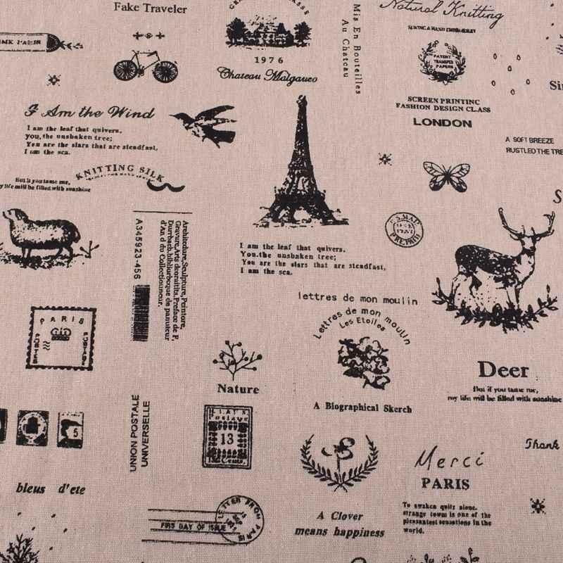 QUANFANG Neue Baumwolle Leinen Stoff Für Patchwork Nähen DIY Materialien Hand Tissue Für Kissen Sofa Tuch Puppe Tasche Halben meter