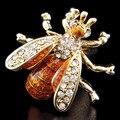 СПАРТА Покрытие золото + Австрия кристаллические пчелы запонки мужские Запонки + Бесплатная Доставка!