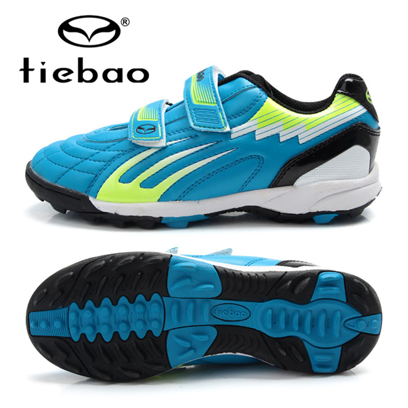 TIEBAO Professional Boys Soccer Cleats Chuteira Futebol Shoes TF Turf Football Soccer Shoes Sneakers Trainers Football