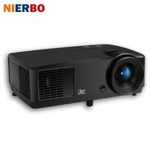 NIERBO 3D Daytime Proyector Full HD Proyector 1024*768 Nativo Proyector DLP Chip de 203 W de la lámpara de Soporte 1920*1080 P HDMI Puerto 5600 lúmenes