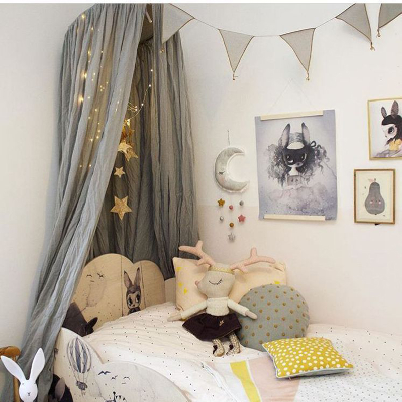Baby Bed Canopy Kids Crib Netting Nordic Style Children Room Curtain Dome Mosquito Net Cotton Baby Girl Mantle Nets Tent-in Mosquito Net from Home u0026 Garden ... & Baby Bed Canopy Kids Crib Netting Nordic Style Children Room ...