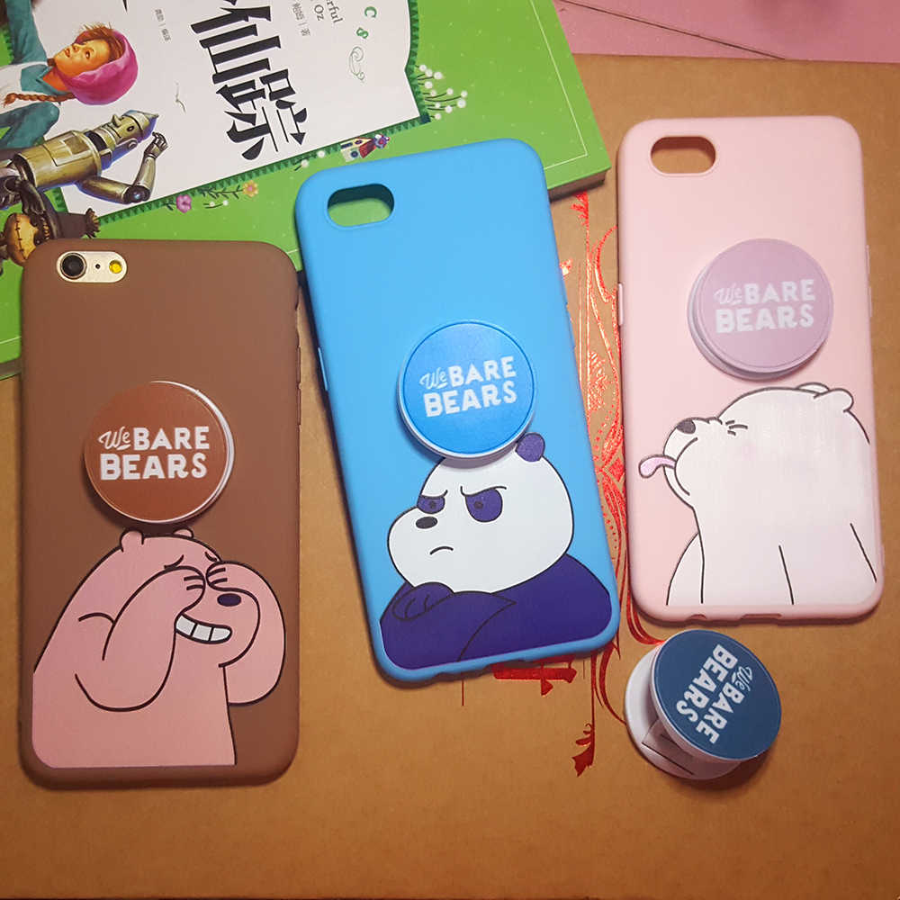We Bare Bears Case for Huawei P10 P20 P8 P9 Lite P Smart P30 Pro G9 Plus GR3 GR5 2017 Soft Cover Phone Cases With Bracket