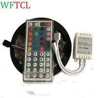 WFTCL SMD5050 RGB LED Bande 12 В 5 М 150 Светодиодов Диод Лента СВЕТОДИОДНЫЕ Ленты Гибкие Огни + 44 кнопок пульта дистанционного управления для использовани...