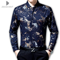 2017 Night Club Men Dress Shirt Men's Shining Shirts Long Sleeve Festival Brilliant Men Shirt Homme Luxury Shirt Cardigan