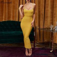 Ocstrade Vestidos תחבושת 2020 חדש כניסות קיץ מסיבת לילה נשים שמלת תחבושת סקסי זנגביל מקסי ארוך תחבושת שמלת Bodycon