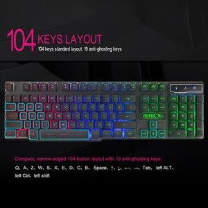 Image 4 - IMice Wired Gaming Tastatur Mechanische Gefühl + Russische aufkleber Tastaturen LED RGB Backlit Wired USB 104 Schlüssel Computer PC + x7 maus