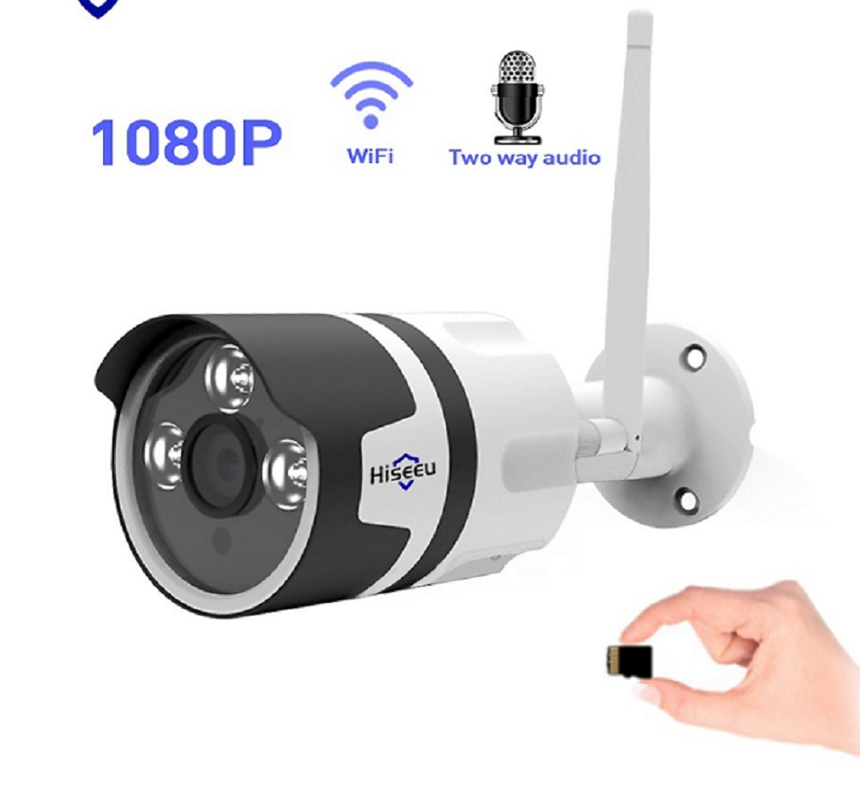 wifi outdoor IP camera 1080P 720P waterproof 2.0MP wireless security camera metal two way audio TF card record P2P bullet цена