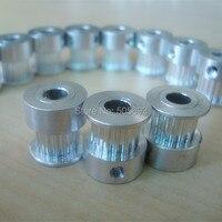 4 pçs um pacote de 14 dentes gt2 5mm furo com 6mm largura gt2 polia cronometrando para reprap impressora 3d frete grátis