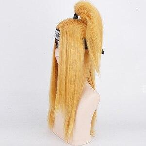 Image 5 - Naruto Akactuki pelucas de Cosplay para hombre, peluca larga de cosplay para halloween, pelucas doradas peluca para disfraz
