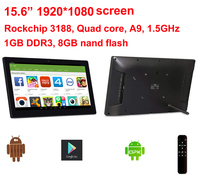 15.6 inch Android All in one pc with Remote (No touch, 1920*1080 screen,1GB DDR3, 8GB nand flash, Play store, Bluetooth, VESA)