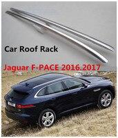 Barras de Tejadilho do carro Para Jaguar F PACE 2016.2017 Bagagem Rack de Alta Qualidade Nova Marca De Alumínio Pasta de Instalação Auto Acessórios|Caixas e racks p/ telhado| |  -