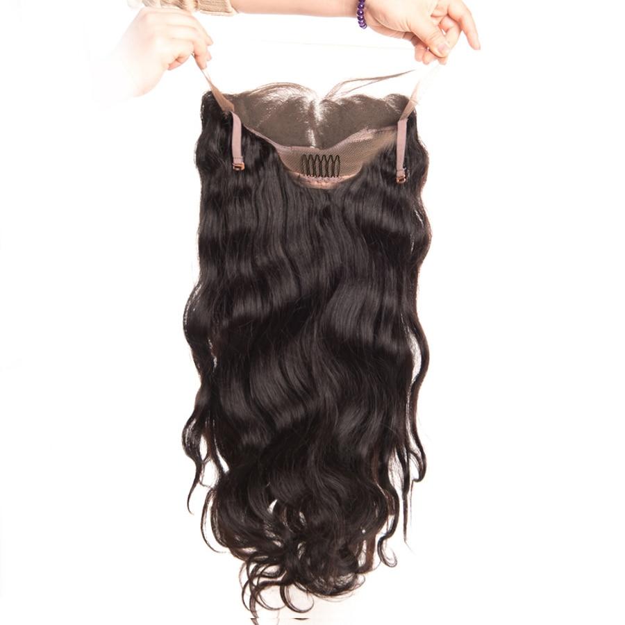 360 레이스 정면 가발 브라질 바디 웨이브 레이스 - 인간의 머리카락 (검은 색) - 사진 6
