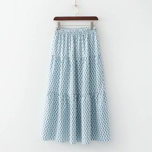 XD40-2241 European and American Fashion Wind Printed Long Skirt