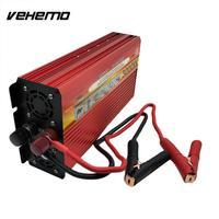 VEHEMO 3000 W Solar Power רכב האוטומטי כוח מהפך ממיר שנאי 12/24 V DC ל-ac 110 V מתאם ארה