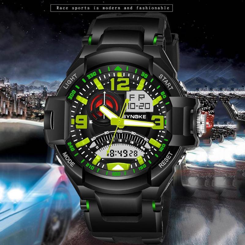 Men Sports Watches Digital Analog Military LED Teen Outdoor Waterproof Electronic Quartz Wristwatches Man Clock
