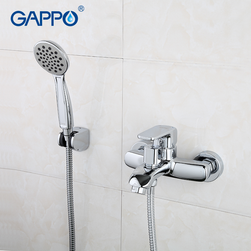 Gappo Classic chrome Bathroom Shower Faucet Bath Faucet Mixer Tap With Hand Shower Head Set Wall Mounted g3260 fie new shower faucet set bathroom faucet chrome finish mixer tap handheld shower basin faucet