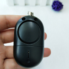 5pcs pack Women Anti-Wolf black personal alarm spot light Pull Keychain alarm