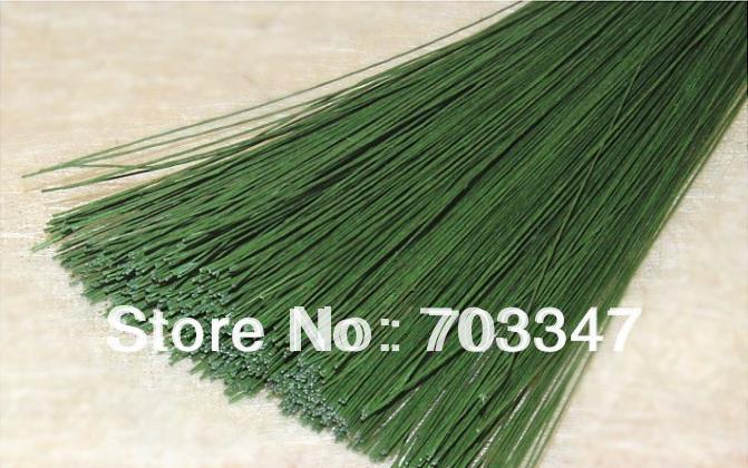 """Big Order Big Discount!! 600pcs X 24# Gauge Floral Stem Wire 23.6"""" In Green *Free Shipping*"""