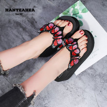 Butterfly Graphic Womens Summer Shoes Casual Fashion Beach Slippers Classic Fashionable