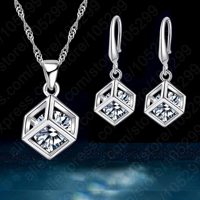 Trendy Design Silver Jewelry Set For Women