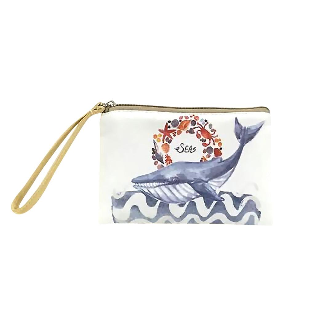 Women Large Whale Shark Stuffed Animal Leather Wallet Large Capacity Zipper Travel Wristlet Bags Clutch Cellphone Bag