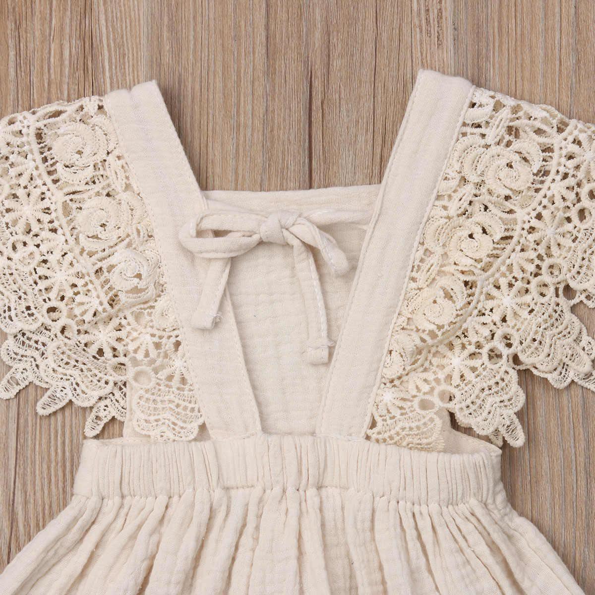 Новое поступление; детское кружевное платье; праздничное платье для маленьких девочек; однотонное платье без рукавов; одежда